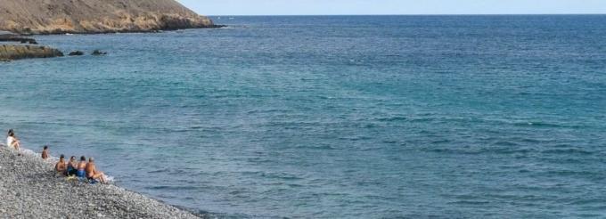Playa sin vigilancia en Gran Canaria
